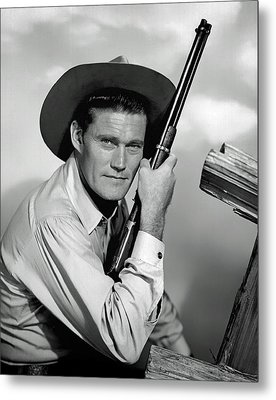 Chuck Connors - The Rifleman Metal Print by Mountain Dreams