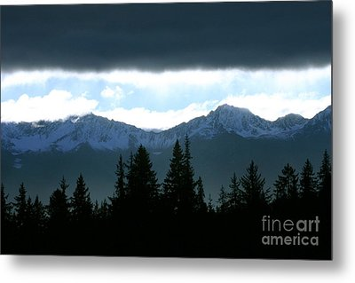 Chugach Mountains Metal Print by Crystal Magee