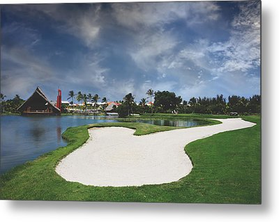 Church And Golf Metal Print by Laurie Search