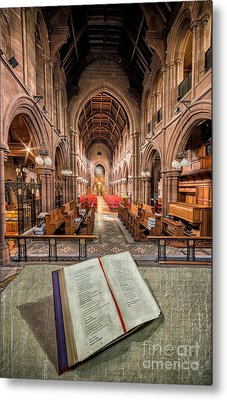Church Bible Metal Print by Adrian Evans