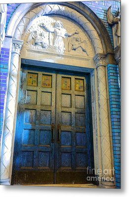Church Door II Metal Print by Becky Lupe