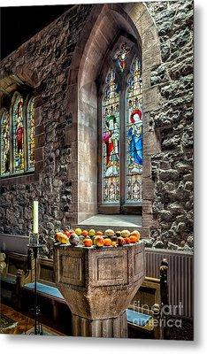 Church Fruits Metal Print by Adrian Evans