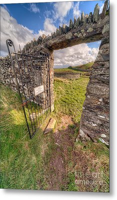 Church Gate Metal Print by Adrian Evans