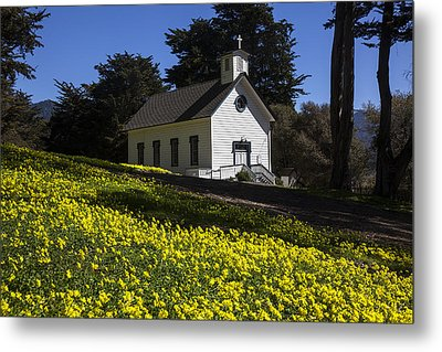 Church In The Clover Metal Print by Garry Gay