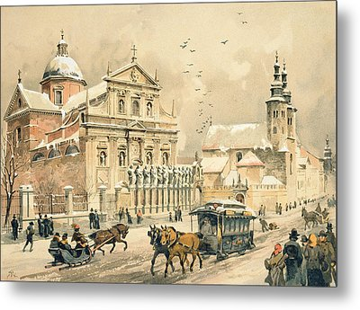 Church Of St Peter And Paul In Krakow Metal Print by Stanislawa Kossaka