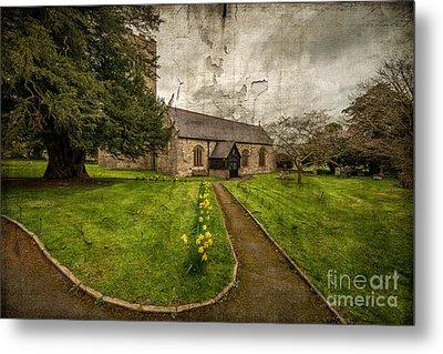 Church Path Metal Print by Adrian Evans