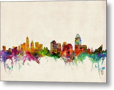 Cincinnati Ohio Skyline Metal Print by Michael Tompsett