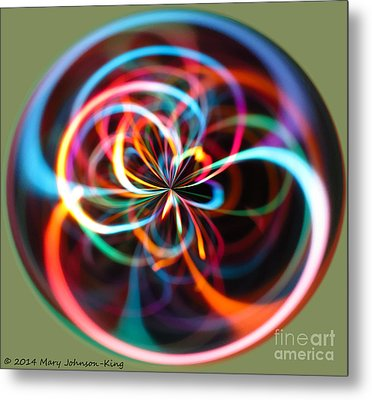 Circle Of Color Metal Print by Mary  King