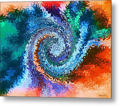 Circle Of Colors Abstract Art Metal Print by Annie Zeno