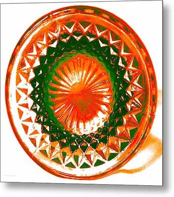 Circle Orange Metal Print by Anita Lewis