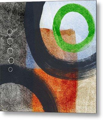 Circles 2 Metal Print by Linda Woods