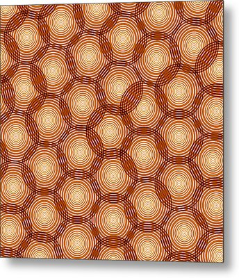 Circles Abstract Metal Print by Frank Tschakert