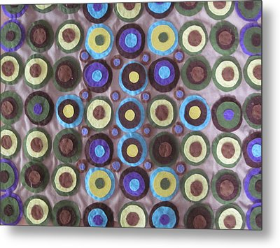 Circles And Dots Metal Print by Cherie Sexsmith