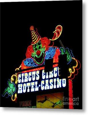 Circus Circus Sign Vegas Metal Print by John Malone