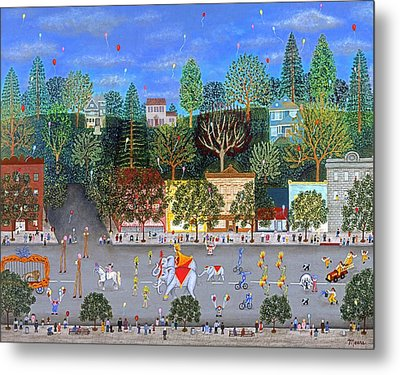 Circus Parade Two Metal Print by Linda Mears