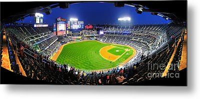 Citi Field And The New York Mets Metal Print by Nishanth Gopinathan