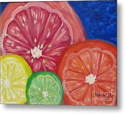 Citrus Slices Metal Print by Laurie Morgan