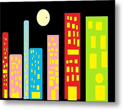City 23 Metal Print by Ronald Weatherford