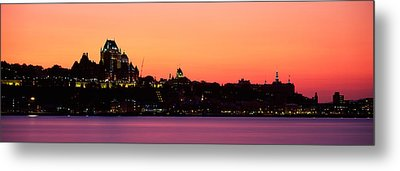 City At Dusk, Chateau Frontenac Hotel Metal Print by Panoramic Images