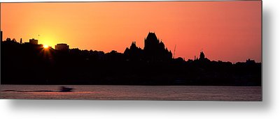 City At Sunset, Chateau Frontenac Metal Print by Panoramic Images