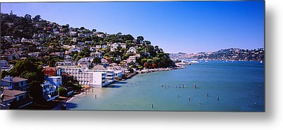 City At The Coast, Sausalito, Marin Metal Print by Panoramic Images
