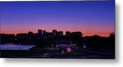 City At The Edge Of Night Metal Print by Metro DC Photography