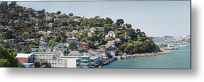 City At The Waterfront, Sausalito Metal Print by Panoramic Images