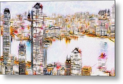 City By The Bay Metal Print by Jack Zulli