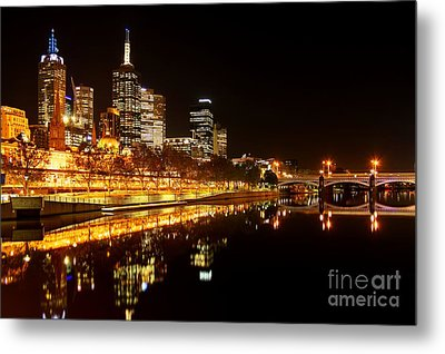 City Glow Metal Print by Andrew Paranavitana