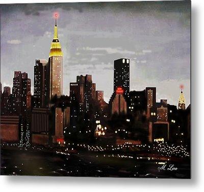 City Lights Metal Print by Marcos Lara