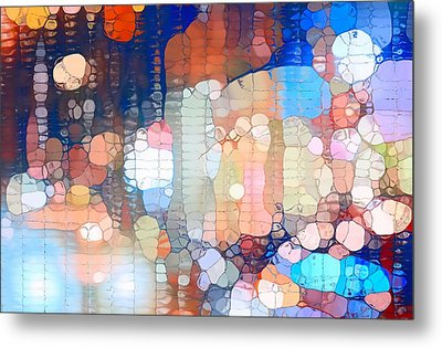 City Lights Urban Abstract Metal Print by Dan Sproul