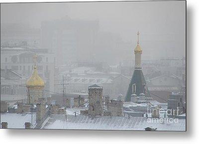 City Mist 1 Metal Print by Anna Yurasovsky
