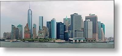 City - Ny - The Financial District Metal Print by Mike Savad