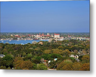 City Of St Augustine Florida Metal Print by Christine Till