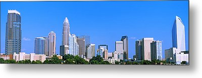 City Skyline, Charlotte, Mecklenburg Metal Print by Panoramic Images
