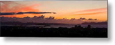 City View At Dusk, Emeryville, Oakland Metal Print by Panoramic Images