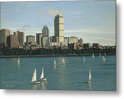 City View Sail Metal Print by Julia O'Malley-Keyes