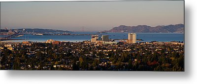 Cityscape With Golden Gate Bridge Metal Print by Panoramic Images