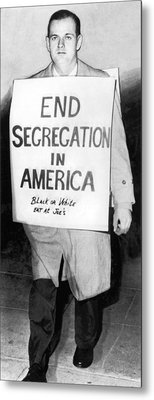 Civil Rights Activist Murdered Metal Print by Underwood Archives