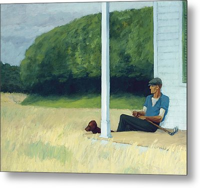Clamdigger Metal Print by Edward Hopper