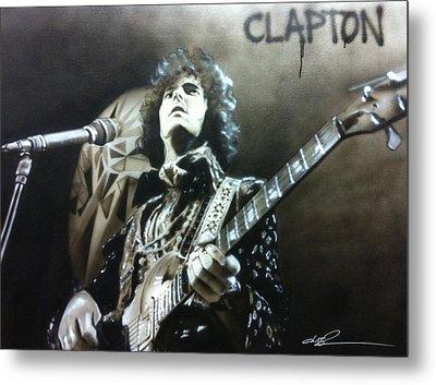 Eric Clapton - ' Clapton ' Metal Print by Christian Chapman Art
