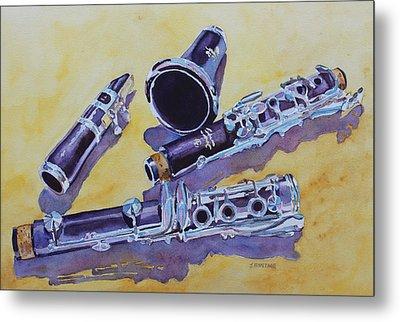 Clarinet Candy Metal Print by Jenny Armitage