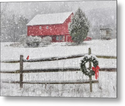 Clarks Valley Christmas 2 Metal Print by Lori Deiter