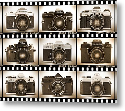 Classic 35mm S L R Cameras Metal Print by Mike McGlothlen