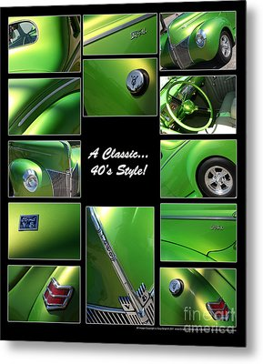 Classic 40s Style - Poster Metal Print by Gary Gingrich Galleries