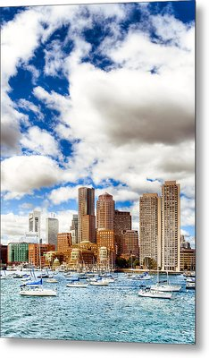 Classic Boston Skyline From The Water Metal Print by Mark E Tisdale