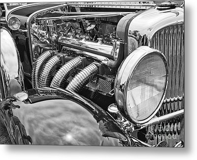 Classic Engine - Classic Cars At The Concours D Elegance. Metal Print by Jamie Pham