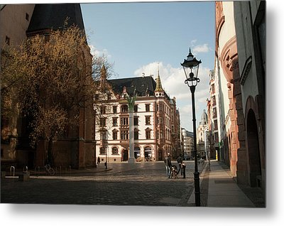 Classic Old Town Street Scene Metal Print by Dave Bartruff