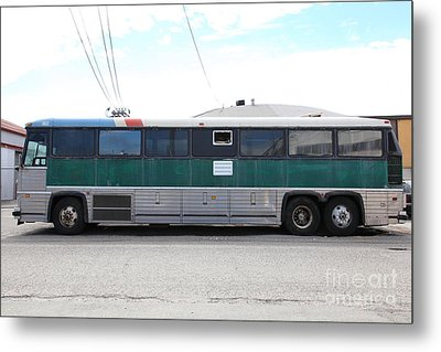 Classic Retro Greyhound Bus 5d25256 Metal Print by Wingsdomain Art and Photography