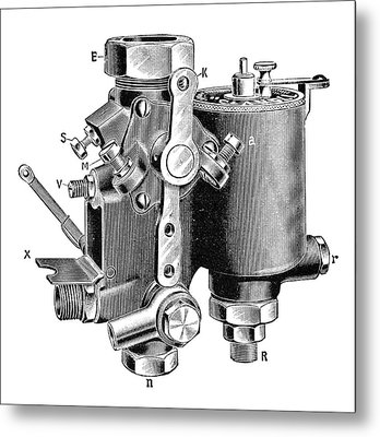 Claudel Carburettor Metal Print by Science Photo Library